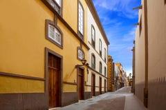 De huizen van Las Palmas DE Gran Canaria Veguetal royalty-vrije stock afbeelding