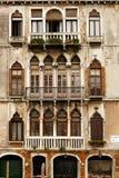De huizen van Merchat in Venetië Stock Fotografie