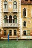 De huizen van Merchat in Venetië Stock Foto