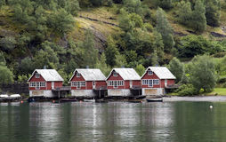 De huizen van Noorwegen Stock Fotografie