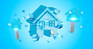 De huizen van onroerende goederen?, Vlakten voor verkoop of voor huur Royalty-vrije Stock Foto
