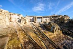 De huizen van oude vissers Stock Foto