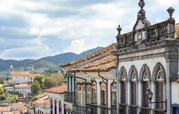 De huizen van Ouropreto Royalty-vrije Stock Afbeeldingen