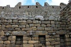 De huizen van Picchu van Machu Stock Afbeeldingen
