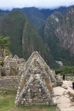 De huizen van Picchu van Machu Royalty-vrije Stock Foto