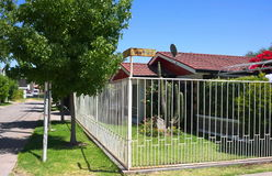 De huizen van Santiago DE Chili - I Stock Afbeeldingen