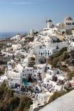 De Huizen van Santorini Stock Foto's