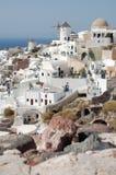 De Huizen van Santorini Stock Afbeeldingen