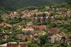De huizen van Sighisoara Stock Afbeelding