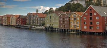 De huizen van Trondheim Royalty-vrije Stock Afbeelding