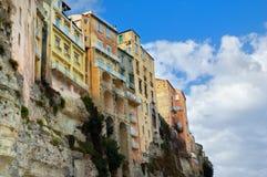 De huizen van Tropea, Italië Royalty-vrije Stock Foto's