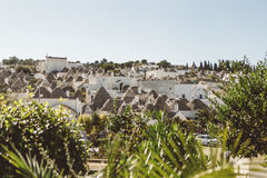 De Huizen van Trulli Stock Afbeeldingen