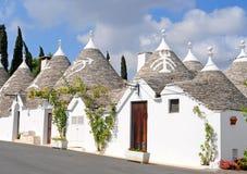 De huizen van Trulli in Alberobello, Italië Royalty-vrije Stock Afbeelding