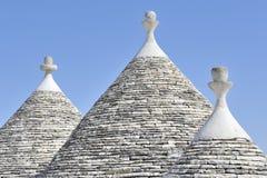 De huizen van Trulli in Alberobello, Puglia, Italië Stock Afbeelding