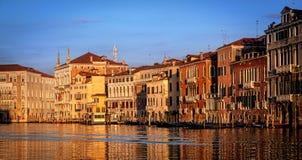 De huizen van Venetië stock afbeelding