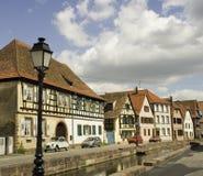 De Huizen van Wissembourg stock afbeeldingen