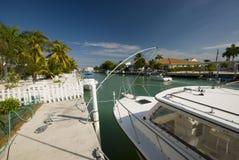 De huizenFlorida van Canalboats sleutels Royalty-vrije Stock Foto's
