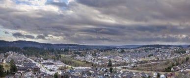 De Huizenpanorama In de voorsteden van Noord-Amerika Royalty-vrije Stock Foto