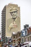 De hulde van Montreal aan Leonard Cohen Stock Foto