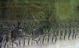De hulp van Bas in Angkor Wat. Siem oogst. Kambodja Stock Afbeeldingen