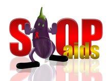 De hulp van de aubergine en van het einde stock illustratie