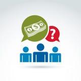 De hulp van de financiële hulpsteun en het raadplegen ico van het geldthema Royalty-vrije Stock Afbeeldingen