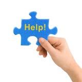 De Hulp van de hand en van het raadsel Stock Afbeelding