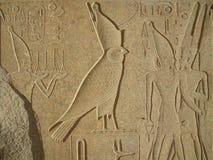De hulp van de valk in Karnak Tempel, Egypte Royalty-vrije Stock Foto's