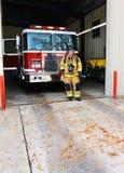 De hulpdiensten van de brand Stock Afbeeldingen
