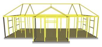 De hulpmiddelen en de materialen de bouw van het bouwproces royalty-vrije illustratie