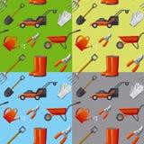 De hulpmiddelen naadloos patroon van de tuin Stock Fotografie