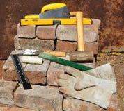 De hulpmiddelen van bouwers Stock Foto's