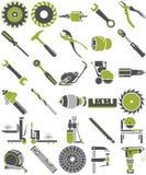 De hulpmiddelen van de bouw stock illustratie