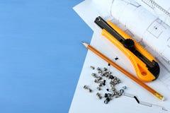De hulpmiddelen van de bouw Stock Foto's