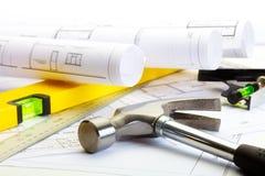 De hulpmiddelen van de bouwer stock afbeeldingen