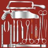De Hulpmiddelen van de chirurgie Royalty-vrije Stock Foto's