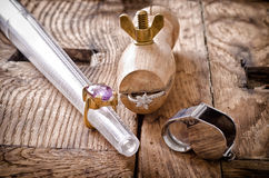 De hulpmiddelen van de goudsmid stock afbeeldingen