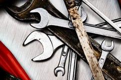De hulpmiddelen van de hand. Stock Afbeeldingen