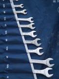 De hulpmiddelen van de moersleutel Stock Fotografie