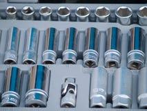 De hulpmiddelen van de moersleutel stock afbeelding
