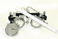 De hulpmiddelen van de opticien stock afbeeldingen