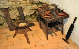 De Hulpmiddelen van de oude Hand Stock Afbeelding