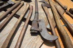 De Hulpmiddelen van de oude Hand Royalty-vrije Stock Afbeelding