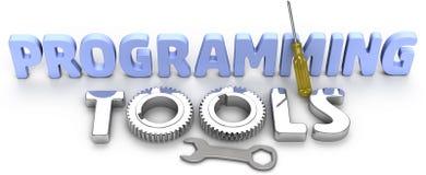 De hulpmiddelen van de programmeringstechnologische ontwikkeling stock illustratie