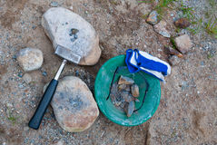 De hulpmiddelen van de prospector royalty-vrije stock fotografie