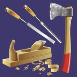 De hulpmiddelen van de schrijnwerker vector illustratie