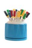 De hulpmiddelen van de tandarts. Stock Afbeeldingen