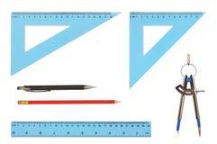 De Hulpmiddelen van de tekening Stock Foto
