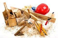 De hulpmiddelen van de timmerman Stock Foto