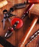 De Hulpmiddelen van de timmerman Stock Fotografie